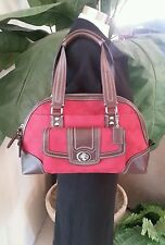 COACH Hamptons Signature RED Domed Satchel Bag Purse F13977 $358 MSRP