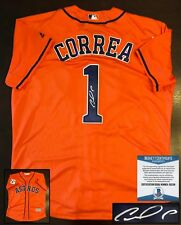 Houston Astros Carlos Correa Signed Jersey Beckett BAS COA