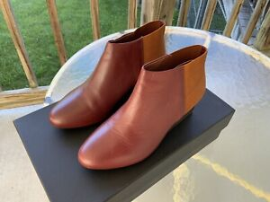 UNITED Nude Solid Bootie Mid - Mahogany + Camel, Women's Size 39 US 8.5