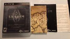 The Elder Scrolls V: Skyrim - Legendary Edition (PS3, 2013) Fast Shipping! W/Map