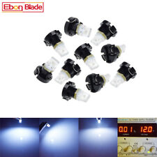 10 X T3 1SMD Car Neo Wedge LED Bulbs Cluster Instrument Dash Climate Base White