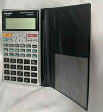 SHARP EL-738 Business Financial Calculator w/ Cover ~ Tested Works Great