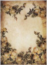 Printed Translucent / Vellum Scrapbook  Paper A/4 - White Roses