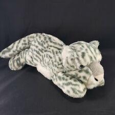 "White Snow Tiger Wild Jungle Cat Stuffed Animal Toy Plush Large 15"" Laying Down"