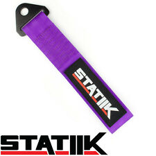 RACING TOW/TOWING STRAP STATIIK RATED AT 10,000 LBS FOR CAR/TRUCK/SUV PURPLE S3