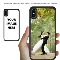Custom Personalised Photo Image Bumper Case iPhone XS Max XR X 8 7 6s Plus Cover