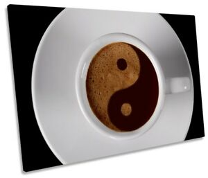 Coffee Yin Yang Kitchen Picture SINGLE CANVAS WALL ART Print