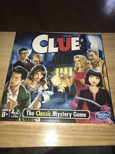 Hasbro Clue The Classic Mystery Board Game -Factory Sealed