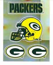 Green Bay Packers Decal Stickers  -  LOT OF THREE