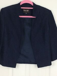 Phase Eight Size 10 Navy Blue Lace Blazer Jacket Smart Occasion Wedding