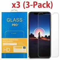 3-Pack Premium Tempered Glass Screen Protector For Apple iPhone X XS Max XR