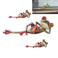 New 3D Funny 3pcs Green Lying Frog Wall Truck Window Vinyl Decal Car Stickers