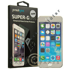 Apple iPhone 7/6s Prodigee Colored Tempered Glass - Silver Protector Guard