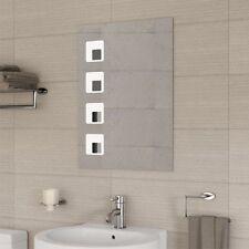 Clear Metal Wall Mounted Bathroom Mirrors