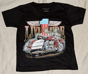 Kinder T-Shirt Live to Ride Gr. 2-4Jahre bis Gr. S Sonder Angebot