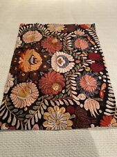 NWT POTTERY BARN HELENA EMBROIDERED FLORAL BLACK STANDARD SHAM