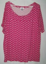 Old Navy Size XXL Super Comfy Bright Pink Patterned Short Sleeve Rayon Top