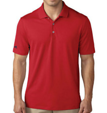 adidas Mens Red Polo T-shirt Mens Size UK M *REF98
