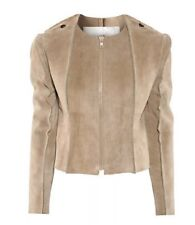 Maison Martin Margiela / H&M Camel Beige Suede Leather Jacket SIZE US 10 EUR 40