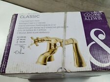 Cooke & Lewis Classic Gold Effect 2 Tap Hole Bath Mixer Tap New