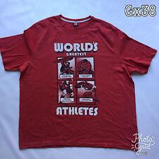 "Mens Marvel's Avengers ""Worlds Grestest Athletes"" Red Size XXXL T Shirt P-P 29"""