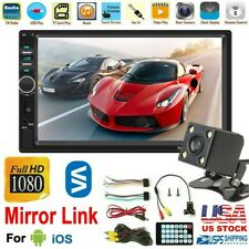 7 Inch Double 2 DIN Car MP5 Player Wireless Touch Screen Stereo Radio HD+Camera
