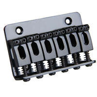 1X(6 Saddle Hardtail Bridge Top Load 65mm Electric Guitar Bridge (Black) X3K2)