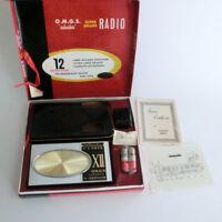 RARE Mint Vintage O.M.G.S. OMGS Suburbia 12 Transistor Radio 1960's Japan + more