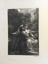 FANTIN LATOUR THEATRE LES TROYENS ACTE III DUO AMOUR XIX SIGNEE LITHOGRAPHIE