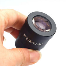 2 pcs WF20X /10mm High Eye-point Eyepiece Lens For Compound Microscope 30mm