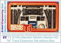 """EE 5194 Marklin HO Station Track Addition Pack, Part """"T3"""" LN Condition T3 NBX"""