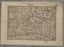 PIEDMONT PIEMONTE ITALY 1599 LANGENES RARE ANTIQUE ORIGINAL COPPER ENGRAVED MAP