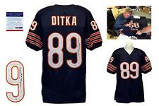 "Mike Ditka Autographed Navy Jersey - PSA/DNA - Chicago Bears SIGNED ""HOF 88"""