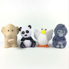 4x Fisher Price Little People Zoo Animal Panda elephant Monkey Duck Figure toy