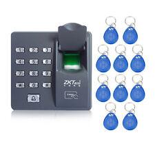 ZK X6 Fingerprint Access Control RFID door access control  10pcs RFID keyfobs