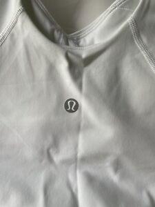 Lululemon Sports Bra Crop Top Size 6 White