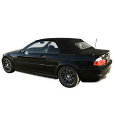 BMW 3-Series E46 2000-2006 Convertible Top & Glass window Black Stayfast Cloth