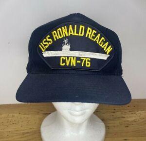 USS RONALD REAGAN CVN 76 Adjustable Hat Snapback