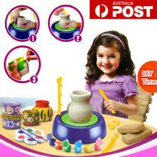 Electric Pottery Wheel Ceramic Machine Kids DIY Ceramic Art Clay Making Toy AU