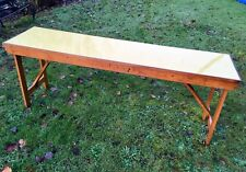 Vintage Wooden Folding Tables With Melamine/Formica Top