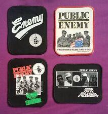 LOT 4 Vintage Rare 80s 90s Hip Hop Rap Music Band Patches PUBLIC ENEMY Chuck D