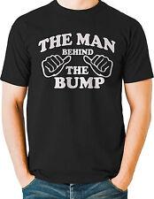 Man Behind the Bump Funny T Shirt Maternity Husband Baby Daddy Mens Big Tall
