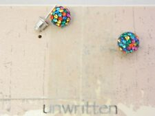 UNWRITTEN $45 Mixed Tone round Stud Style Earrings Store Display SKU24C