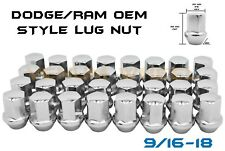 "32pc Dodge Ram 2500 3500 9/16"" OEM/Factory Chrome Style Lug Nuts 2003-2011"