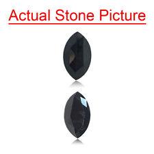 0.76 Cts of 7.4x4.2x3.1 mm AAA Marquise Rose Cut Black Diamond Loose Black Diamo