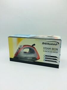Brentwood Electric Appliances Steam Dry Spray Clothes Electric Iron Red