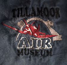 Tillamook Air Museum Embroidered Dark Blue Aviation Souvenir Oregon T-Shirt 2XL