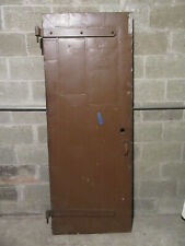 ~ ANTIQUE STEEL CLAD INDUSTRIAL FIRE DOOR ~ 29.5 X 77.5 ~ ARCHITECTURAL SALVAGE