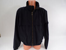 Mens Black Golf Jacket Large Windbreaker Zip Front Stand up Collar Outdoor World