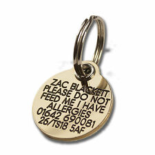 Reinforced Deeply Engraved Dog Tag 27mm Extra Tough Solid Brass